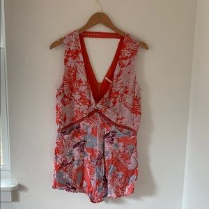Free People floral romper